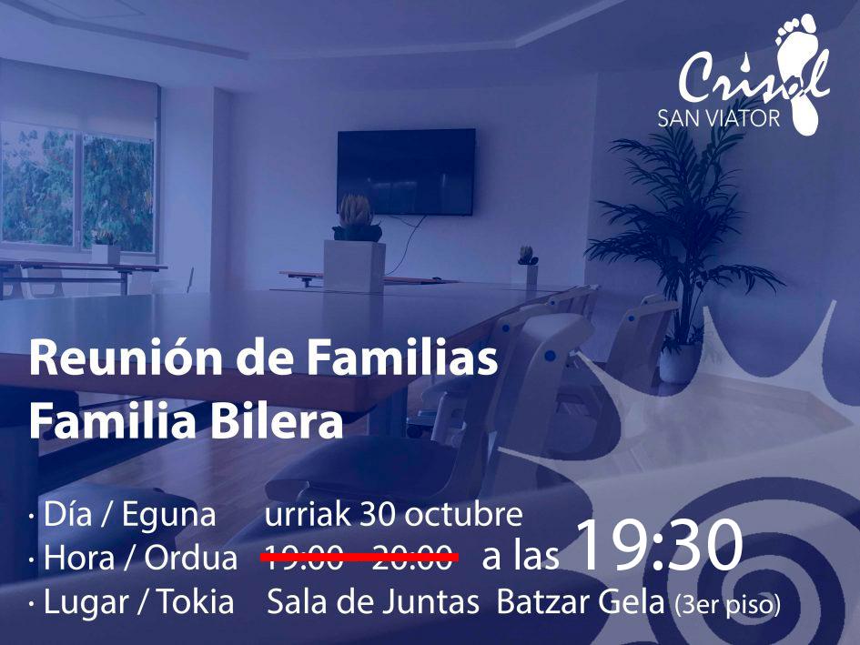 Reunión de Familias (30 de octubre a las 19:30)